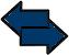 double arrow icon blue