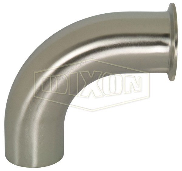 Polished 90° Clamp x Weld Elbow