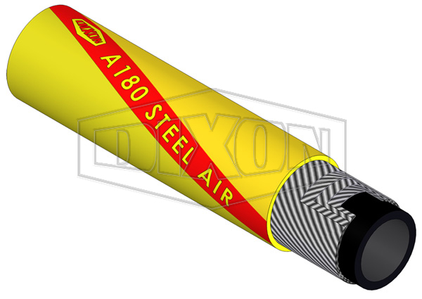 Rubber Extra Heavy Duty Steel Air Hose (A180)