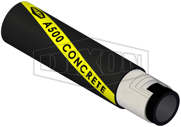 Rubber Concrete Placement Hose Synthetic Cord (A500)