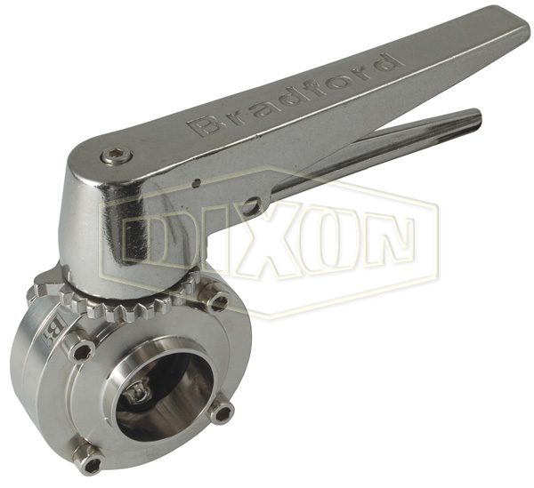 B5107 Series Butterfly Valve with Trigger Handle Weld End