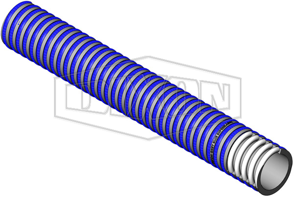 Grey / Blue ABR Super Elastic PVC Suction Hose