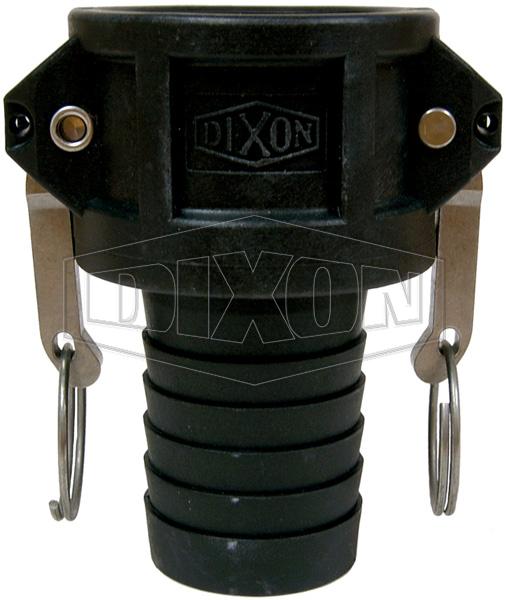 Polypropylene Standard BSP Cam & Groove Type C Coupler x Hose shank