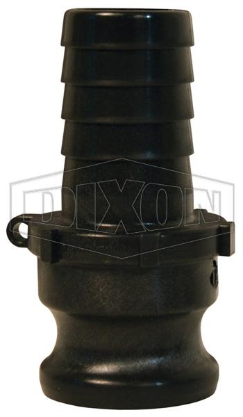 Polypropylene Standard BSP Cam & Groove Type E Adapter x Hose Shank
