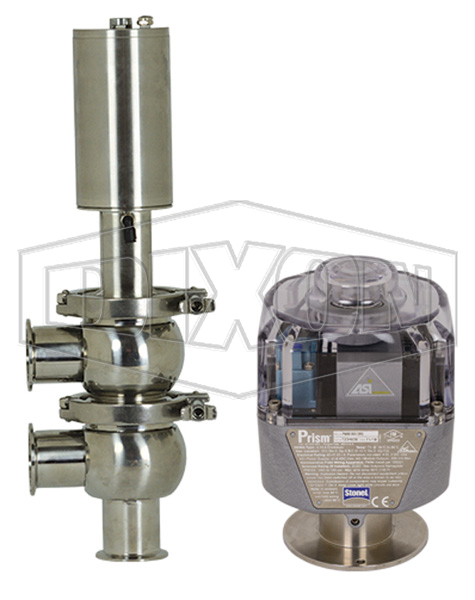 SV-Series Single Seat Hygienic Valve F Body Pneumatic Actuator Spring Return Air to Raise, Communication Module