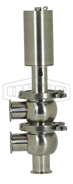 SV-Series Single Seat Hygienic Valve F Body Pneumatic Actuator Spring Return Air to Lower