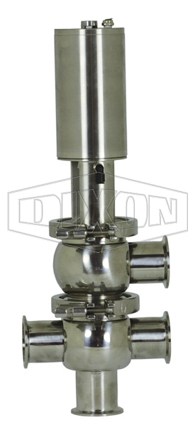 SV-Series Single Seat Hygienic Valve L/T Body Pneumatic Actuator Spring Return Air to Raise