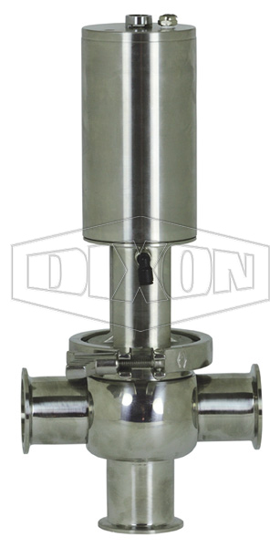 SV-Series Single Seat Hygienic Valve T Body Pneumatic Actuator Spring Return Air to Lower