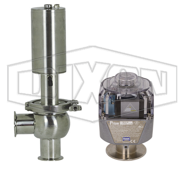 SV-Series Single Seat Hygienic Valve L Body Pneumatic Actuator Spring Return Air to Lower, Communication Module