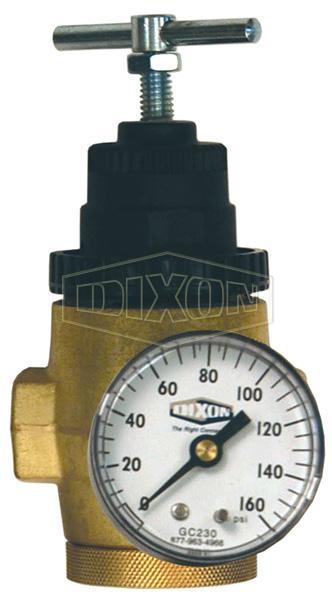 R43 Series 1 FRL's Water Pressure Regulator with Gauge