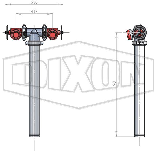 NSW Twin Hydrant Riser