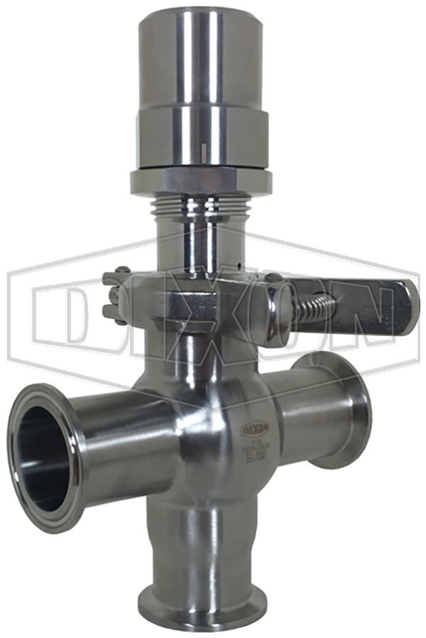 Dixon Sanitary Pressure Relief Valve T Style
