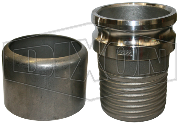 Conduct-A-Boss Scroll Tail Type E Adapter x Hose Shank with Ferrule